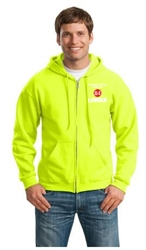 IDS Hauler Full Zip Hoodie Safety Green