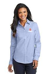 Ladies Oxford Blue Button Down Shirt