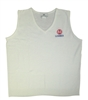Ladies White V-Neck Vest