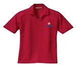 Ladies Red Golf Polo