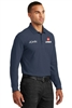 Navy Long Sleeve Pique Polo