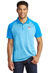 Sport-Tek RacerMesh Raglan Heather Block Polo
