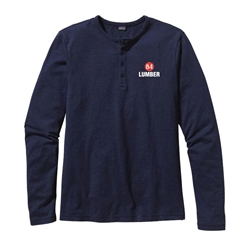 84 Lumber Long Sleeve Navy Henley