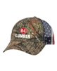 Camo Cap with American Flag Mesh Back - CWF400M