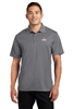 Gray Dry-fit Short Sleeve Polo Tall