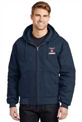 IDS Hauler Duck Cloth Work Jacket Navy w/ Hood