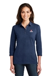 Port Authority Ladies 3/4-Sleeve Meridian Cotton Blend Polo L578