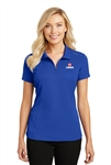 Port Authority Ladies Pinpoint Mesh Zip Polo