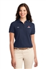 Ladies Navy Knit Golf Shirt