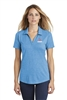 Sport-Tek Ladies Tri-Blend Wicking Polo