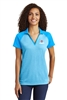 Sport-Tek Ladies RacerMesh Raglan Heather Block Polo