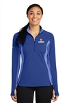Ladies Stretch Contrast 1/2-Zip Pullover