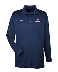 Navy Dry-fit LongSleeve Polo
